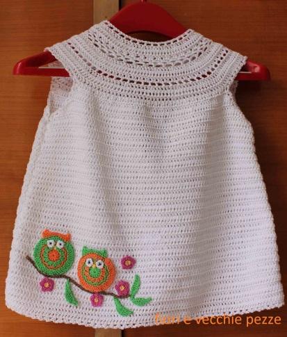 Vestitino Estivo A Crochet Fiorievecchiepezze